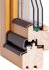 Okna drewniane jednoramowe